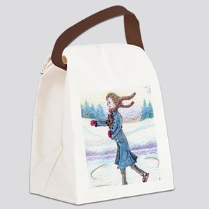 hitching a lift - cairn Canvas Lunch Bag