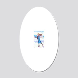 hitching a lift - cairn satu 20x12 Oval Wall Decal