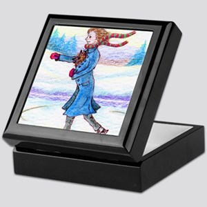 hitching a lift - cairn saturated Keepsake Box
