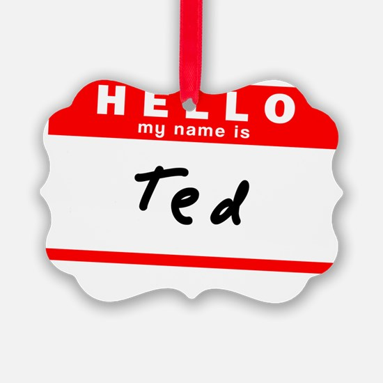 Ted Ornament