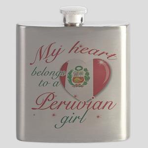 peruvian girl Flask