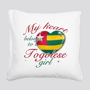 togolese girl Square Canvas Pillow