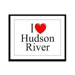 """""""I Love Hudson River"""" Framed Panel Print"""