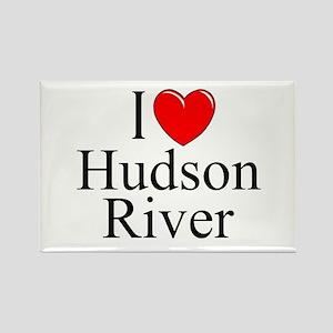 """I Love Hudson River"" Rectangle Magnet"