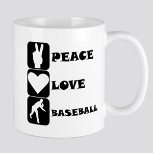Peace Love Baseball Mugs
