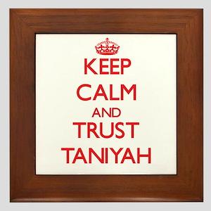 Keep Calm and TRUST Taniyah Framed Tile