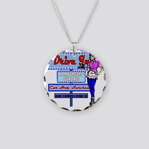AT-THYE-DRIVE-IN-RETRO-50S Necklace Circle Charm