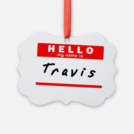 Travis Ornament