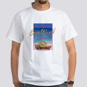 Chilling Out in Easy World White T-Shirt