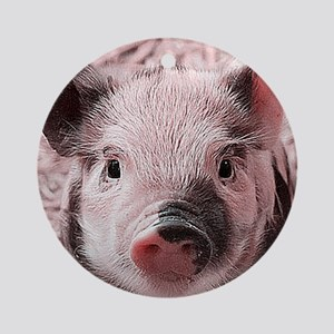 sweet piglet, pink Ornament (Round)