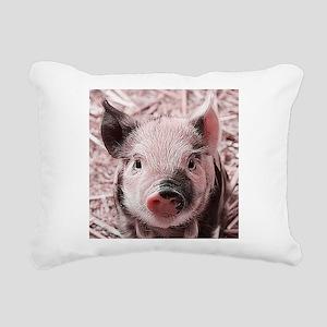 sweet piglet, pink Rectangular Canvas Pillow