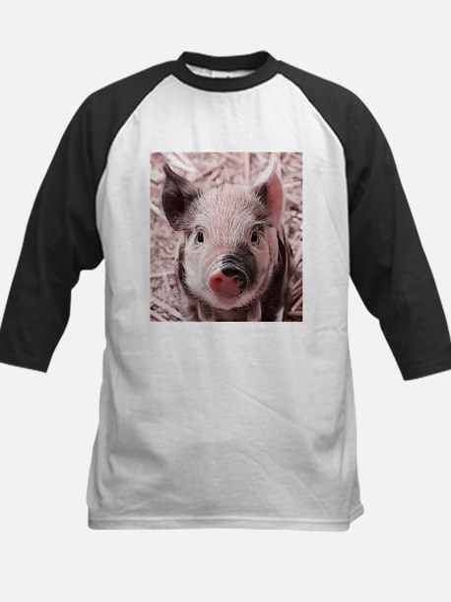 sweet piglet, pink Baseball Jersey