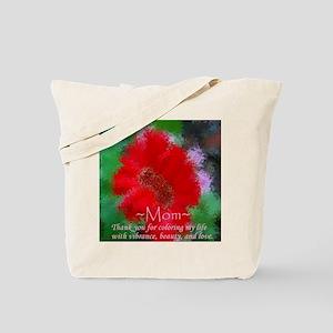 red flower Mom vblove Tote Bag