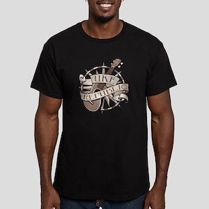 ukerepublic_logo_sepia Men's Fitted T-Shirt (dark)