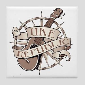 ukerepublic_logo_sepia_med Tile Coaster