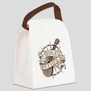ukerepublic_logo_sepia_med Canvas Lunch Bag
