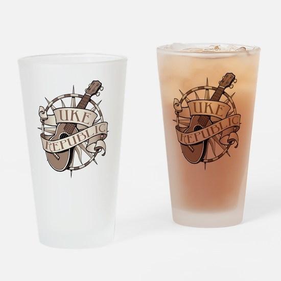 ukerepublic_logo_sepia_med Drinking Glass