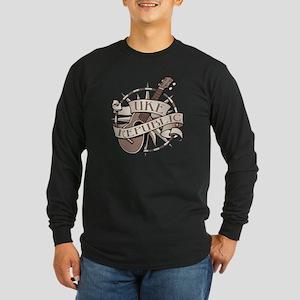 ukerepublic_logo_sepia_me Long Sleeve Dark T-Shirt