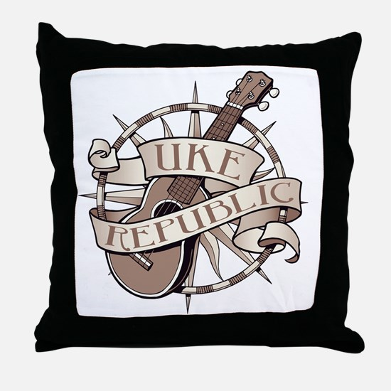 ukerepublic_logo_sepia_med Throw Pillow