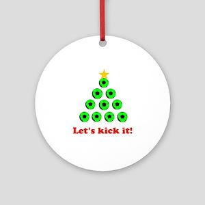 Xmas Tree - Green Ornament (Round)