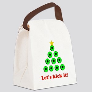 Xmas Tree - Green Canvas Lunch Bag