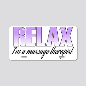 relax Aluminum License Plate