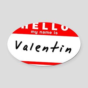 Valentin Oval Car Magnet