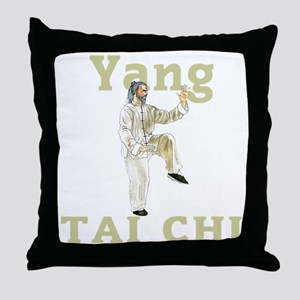 YangGoldencockDark Throw Pillow