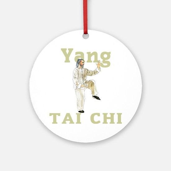 YangGoldencockDark Round Ornament