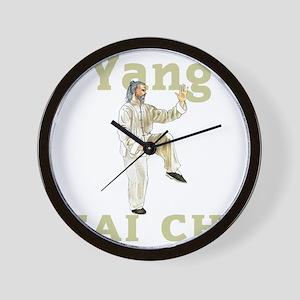 YangGoldencockDark Wall Clock