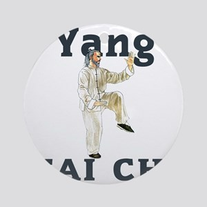 YangGoldencockLight Round Ornament