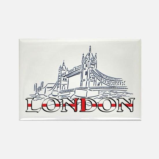 London: Tower Bridge Rectangle Magnet