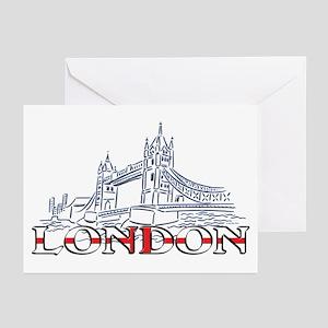 London: Tower Bridge Greeting Cards (Pk of 10)