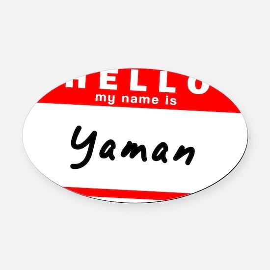 Yaman Oval Car Magnet
