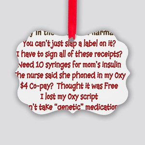 a day in life of pharmacist Picture Ornament