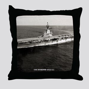 intrepid cva framed panel print Throw Pillow