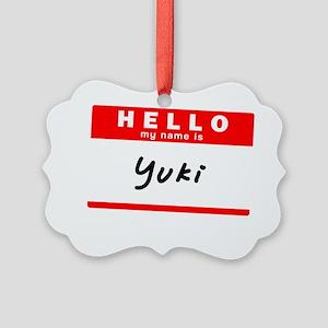 Yuki Picture Ornament