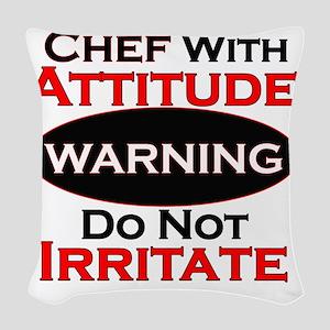 Attitude Chef Woven Throw Pillow