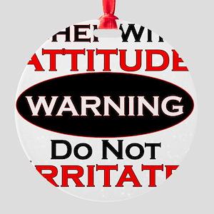 Attitude Chef Round Ornament