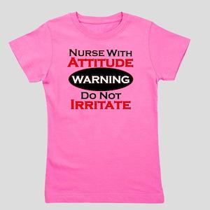 Attitude nurse copy Girl's Tee