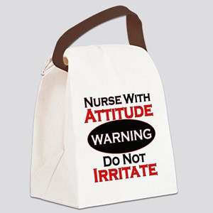 Attitude nurse copy Canvas Lunch Bag