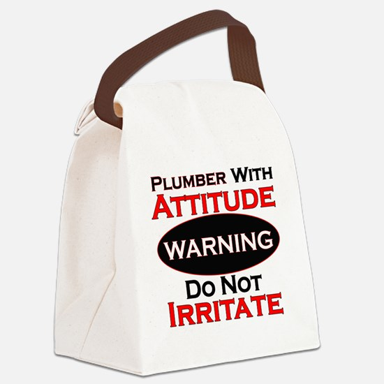 Attitude plumber  Canvas Lunch Bag