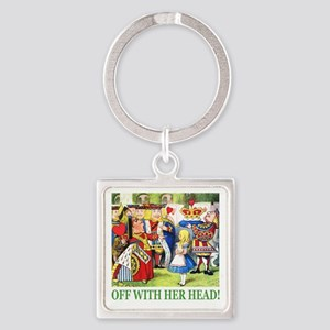 ALICE_OFF WITH HEAD_GREEN Square Keychain