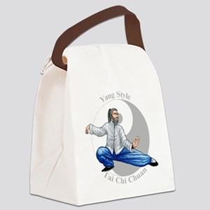 yingyangsnakeColored Canvas Lunch Bag