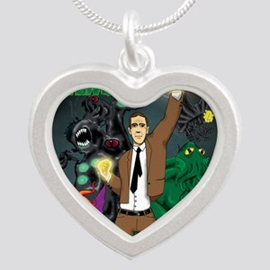 hp-avengers Silver Heart Necklace