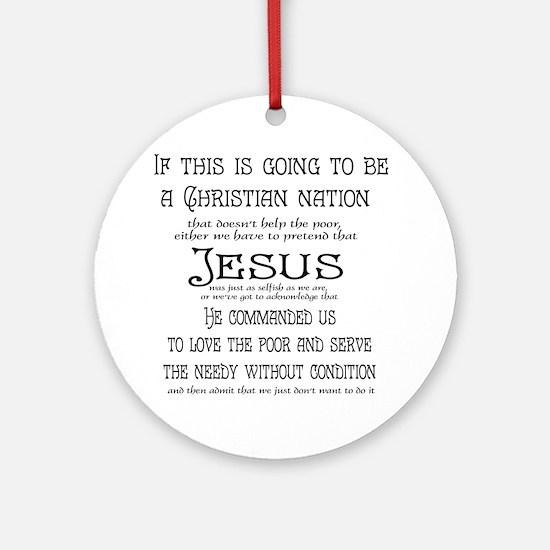 Christian Nation Round Ornament