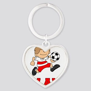 Poland Football (Soccer) Heart Keychain