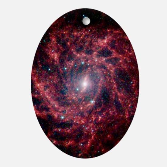 Galaxy IC 342 Oval Ornament