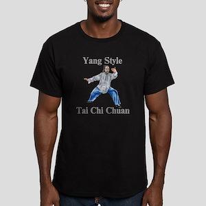 yangstylepartingLight Men's Fitted T-Shirt (dark)