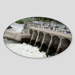 Diversion Dam W Sticker (Oval)